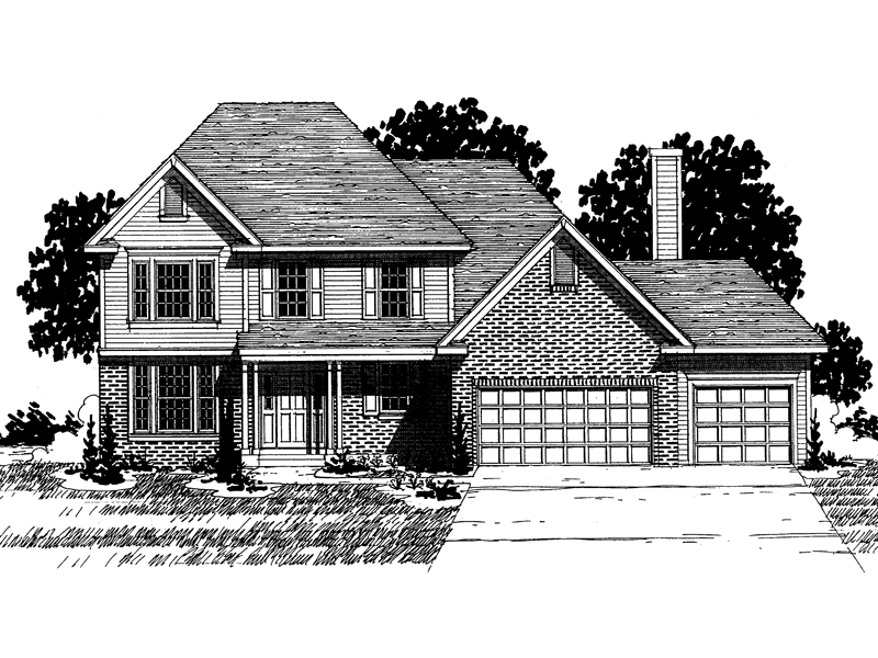 Colonial House Plan Front of Home - 072D-0866 | House Plans and More
