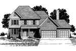 Colonial Floor Plan Front of Home - 072D-0866 | House Plans and More