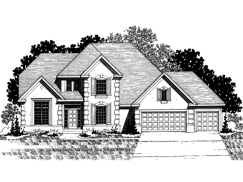 Traditional House Plan Front of Home - 072D-0867 | House Plans and More