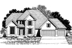 European House Plan Front of Home - 072D-0867 | House Plans and More