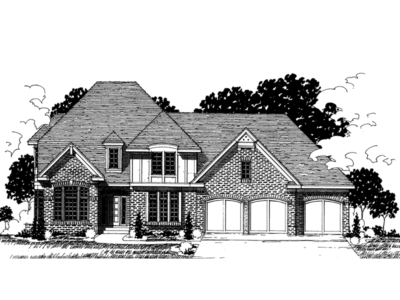 Traditional House Plan Front of Home - 072D-0868 | House Plans and More