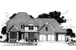 English Tudor House Plan Front of Home - 072D-0868 | House Plans and More