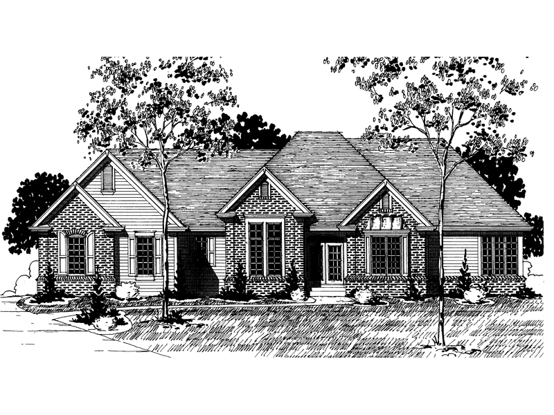 Traditional House Plan Front of Home - 072D-0869 | House Plans and More