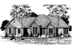 Southern House Plan Front of Home - 072D-0869 | House Plans and More