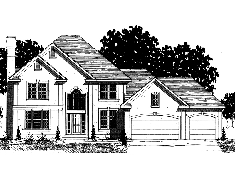 European House Plan Front of Home - 072D-0870 | House Plans and More