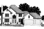 English Tudor House Plan Front of Home - 072D-0870 | House Plans and More