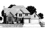 Traditional House Plan Front of Home - 072D-0871 | House Plans and More