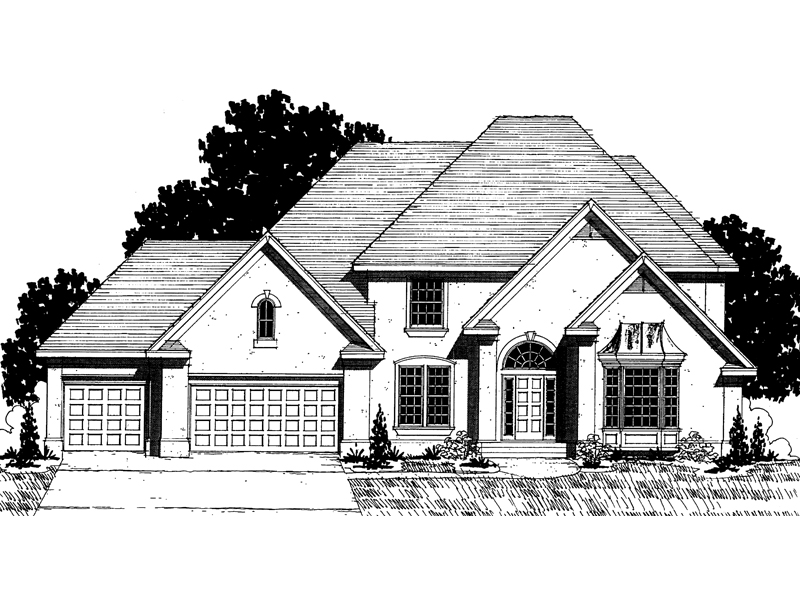 Country French Home Plan Front of Home - 072D-0872 | House Plans and More