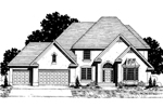 Country French House Plan Front of Home - 072D-0872 | House Plans and More