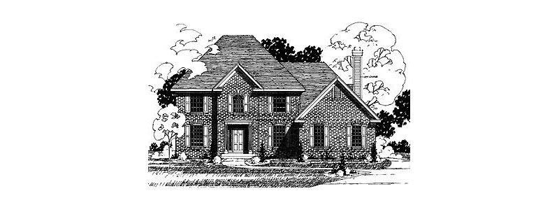 Country French House Plan Front of Home - 072D-0873 | House Plans and More