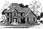 Country French Home Plan Front of Home - 072D-0873 | House Plans and More
