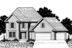 Traditional House Plan Front of Home - 072D-0874 | House Plans and More