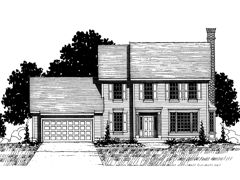 Colonial House Plan Front of Home - 072D-0875 | House Plans and More