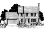 Colonial Floor Plan Front of Home - 072D-0875 | House Plans and More