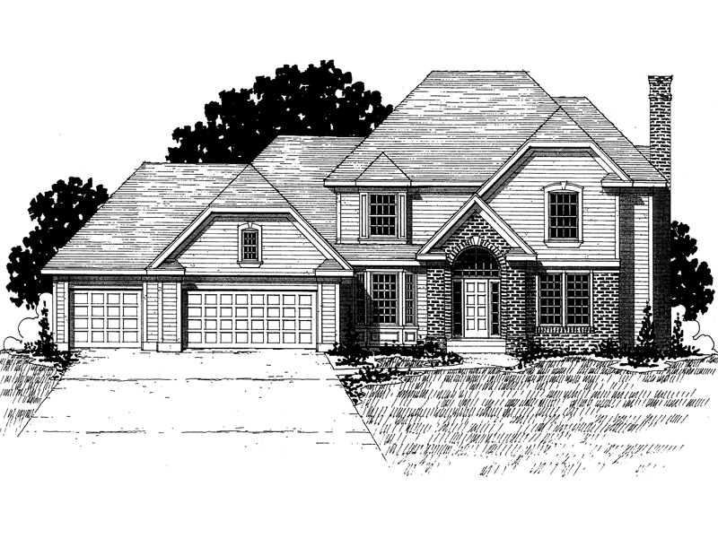 Traditional House Plan Front of Home - 072D-0876 | House Plans and More