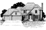 Southern House Plan Front of Home - 072D-0876 | House Plans and More