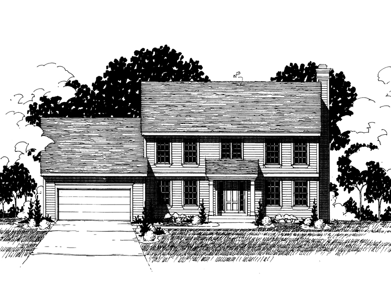 Colonial House Plan Front of Home - 072D-0877 | House Plans and More