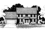 Early American House Plan Front of Home - 072D-0877 | House Plans and More