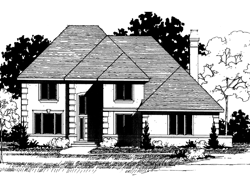 Modern House Plan Front of Home - 072D-0878 | House Plans and More