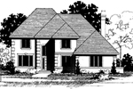 English Tudor House Plan Front of Home - 072D-0878 | House Plans and More