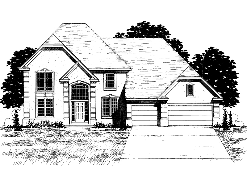 Traditional House Plan Front of Home - 072D-0879 | House Plans and More