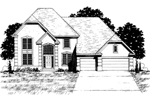 European House Plan Front of Home - 072D-0879 | House Plans and More