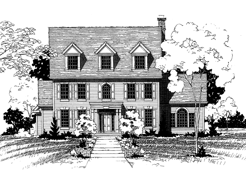 Southern Plantation Plan Front of Home - 072D-0880 | House Plans and More