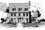 Georgian House Plan Front of Home - 072D-0880 | House Plans and More