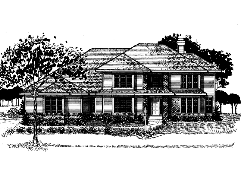Modern House Plan Front of Home - 072D-0881 | House Plans and More