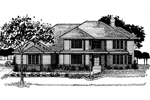 Southern House Plan Front of Home - 072D-0881 | House Plans and More