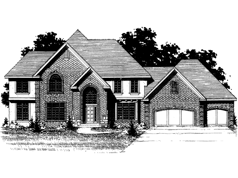 Country French Home Plan Front of Home - 072D-0882 | House Plans and More