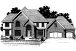 Country French House Plan Front of Home - 072D-0882 | House Plans and More