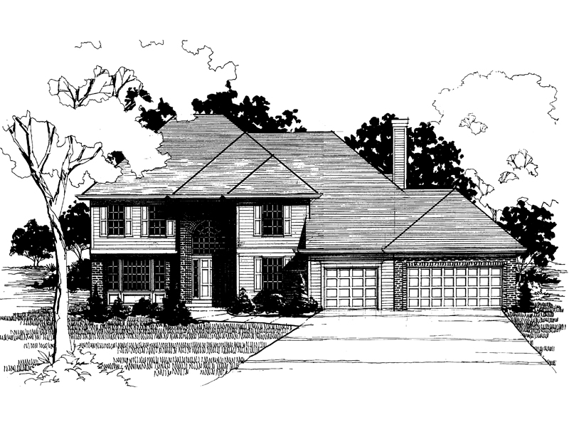 Country House Plan Front of Home - 072D-0883 | House Plans and More