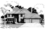 Colonial House Plan Front of Home - 072D-0883 | House Plans and More