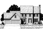 Colonial Floor Plan Front of Home - 072D-0886 | House Plans and More
