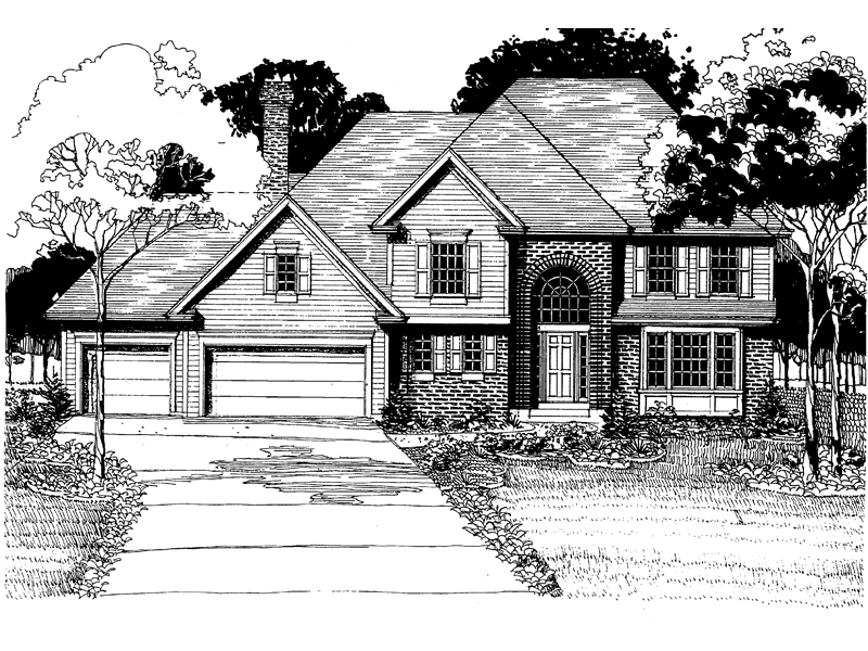 Traditional House Plan Front of Home - 072D-0887 | House Plans and More