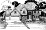 Colonial Floor Plan Front of Home - 072D-0887 | House Plans and More