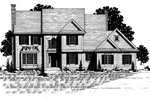 Colonial Floor Plan Front of Home - 072D-0888 | House Plans and More