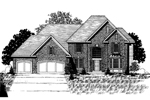Colonial House Plan Front of Home - 072D-0889 | House Plans and More
