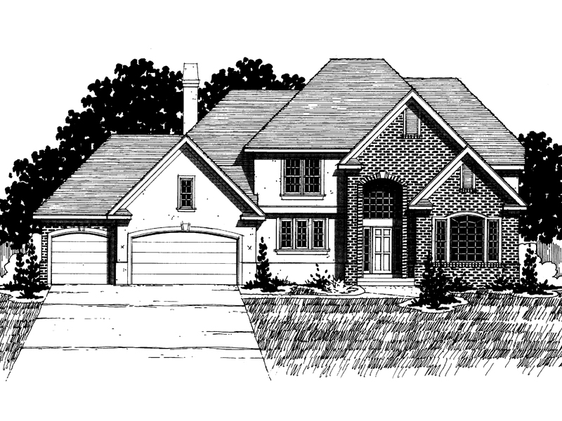 Traditional House Plan Front of Home - 072D-0890 | House Plans and More