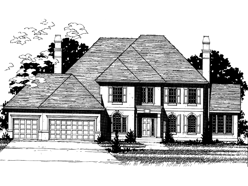 Colonial Floor Plan Front of Home - 072D-0891 | House Plans and More