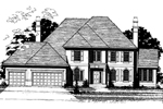 Colonial House Plan Front of Home - 072D-0891 | House Plans and More