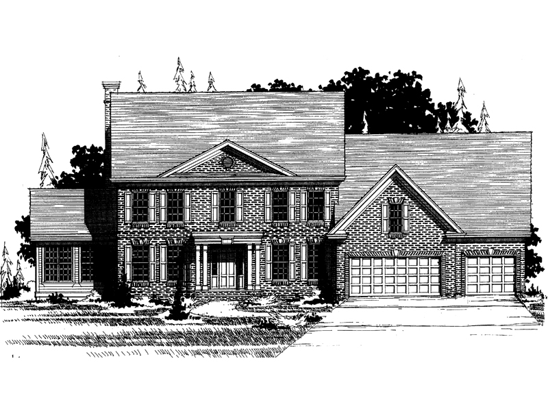 Southern Plantation Plan Front of Home - 072D-0892 | House Plans and More