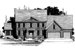 Georgian House Plan Front of Home - 072D-0892 | House Plans and More