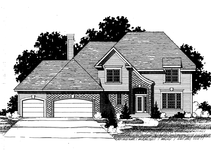 Traditional House Plan Front of Home - 072D-0894 | House Plans and More