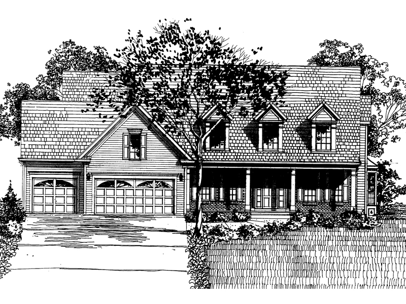 Colonial House Plan Front of Home - 072D-0896 | House Plans and More