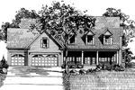 Farmhouse Plan Front of Home - 072D-0896 | House Plans and More