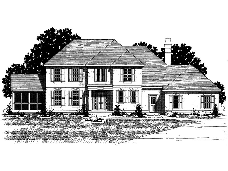 Southern House Plan Front of Home - 072D-0902 | House Plans and More
