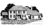 Georgian House Plan Front of Home - 072D-0902 | House Plans and More