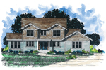 Arts and Crafts House Plan Front of Home - 072D-0908 | House Plans and More